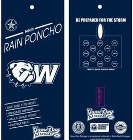 Storm Duds Navy Stadium Poncho New Dog Head W Logo