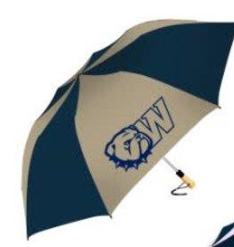 "Storm Duds 58"" The Big Storm Oversized Navy Gold New Dog Head W Umbrella"