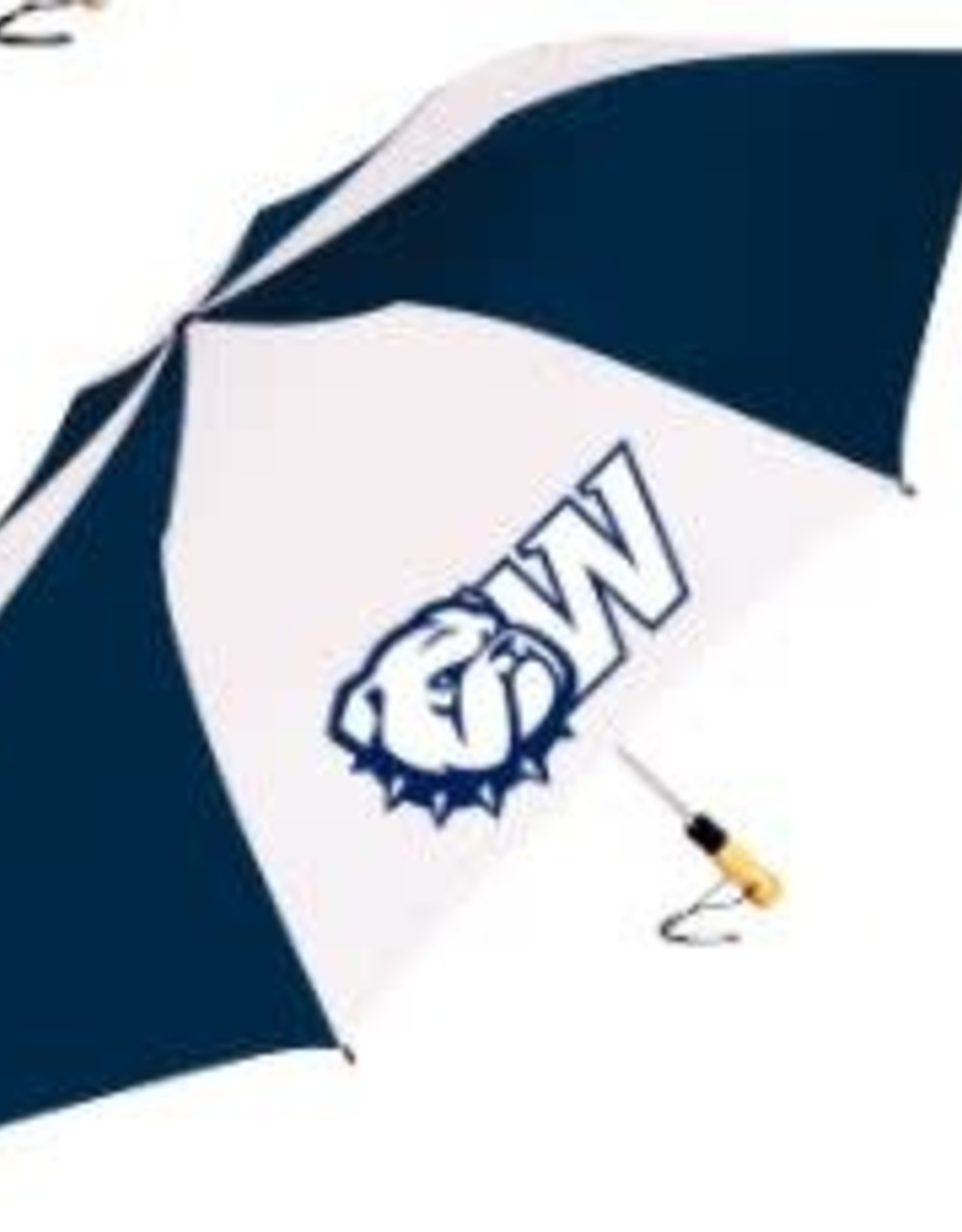 "58"" The Big Storm Oversized Navy White New Dog Head W Umbrella"