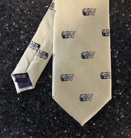 Gold Silk Dog Head W Tie