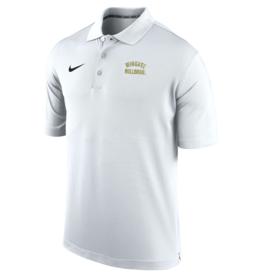 Nike White Wingate Bulldogs Embroidered Varsity Performance Polo