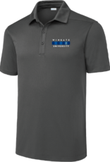 Sport Tec Grey New Wingate University Flag  Embroidered Polo
