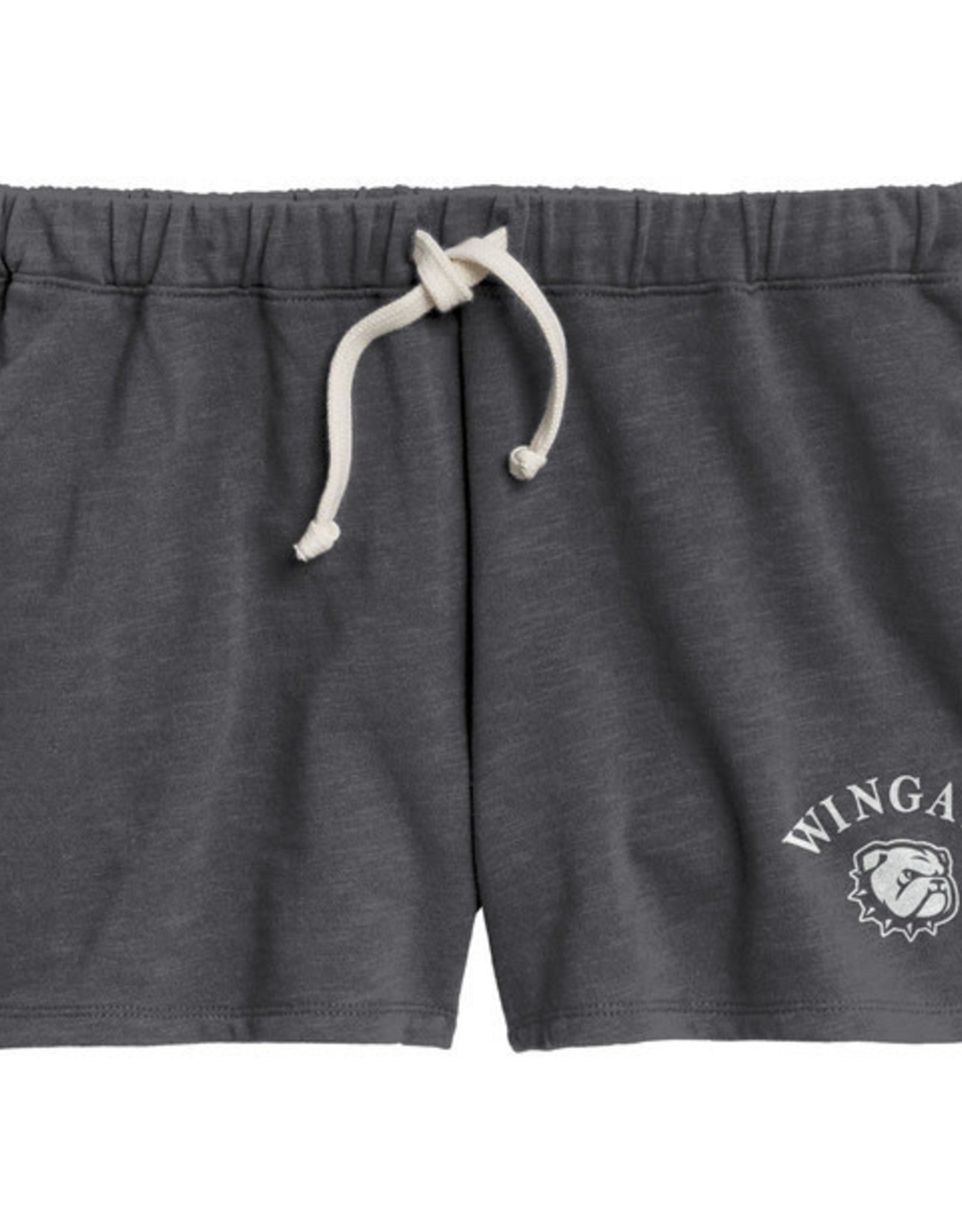 League Ladies Pepper Unwind  Relaxed Fit Wingate New Dog Head Terry Shorts