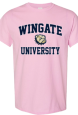 Gildan Youth Pink Wingate University New Dog ss Tee