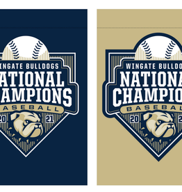 """Wincraft 28"""" x 40"""" Navy Gold Baseball Championship 2 Sided Flag 2 Sided"""