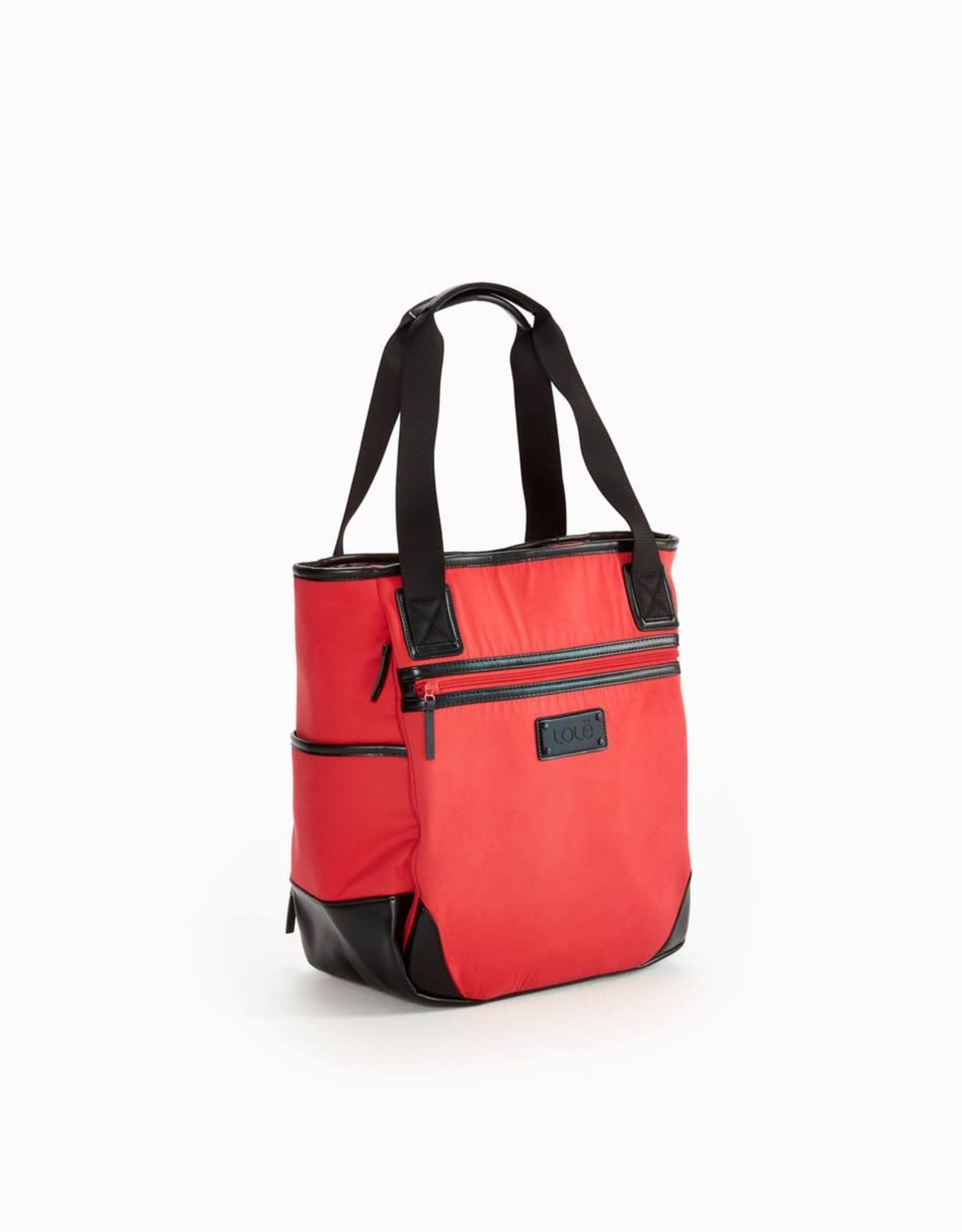 Lole Flame red waxed lily bag