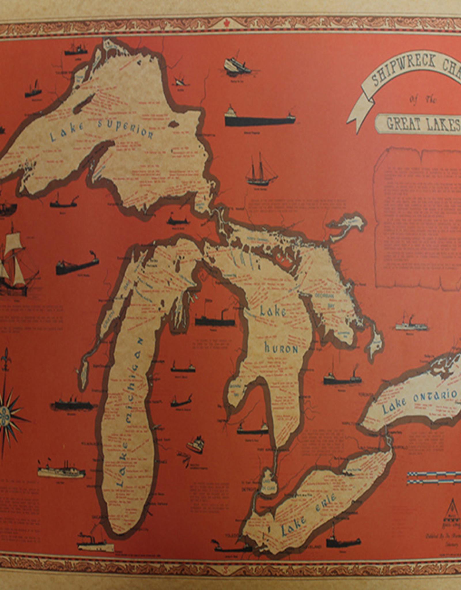 Great Lakes Shipwreck Chart