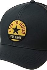 Life Is Good Stay True Star Hard Mesh Back Cap