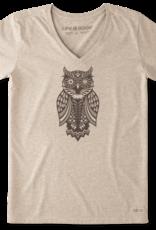 Life Is Good W Magic Owl Tee