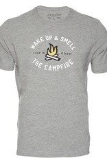 Life Is Good M Smell the Campfire Tee