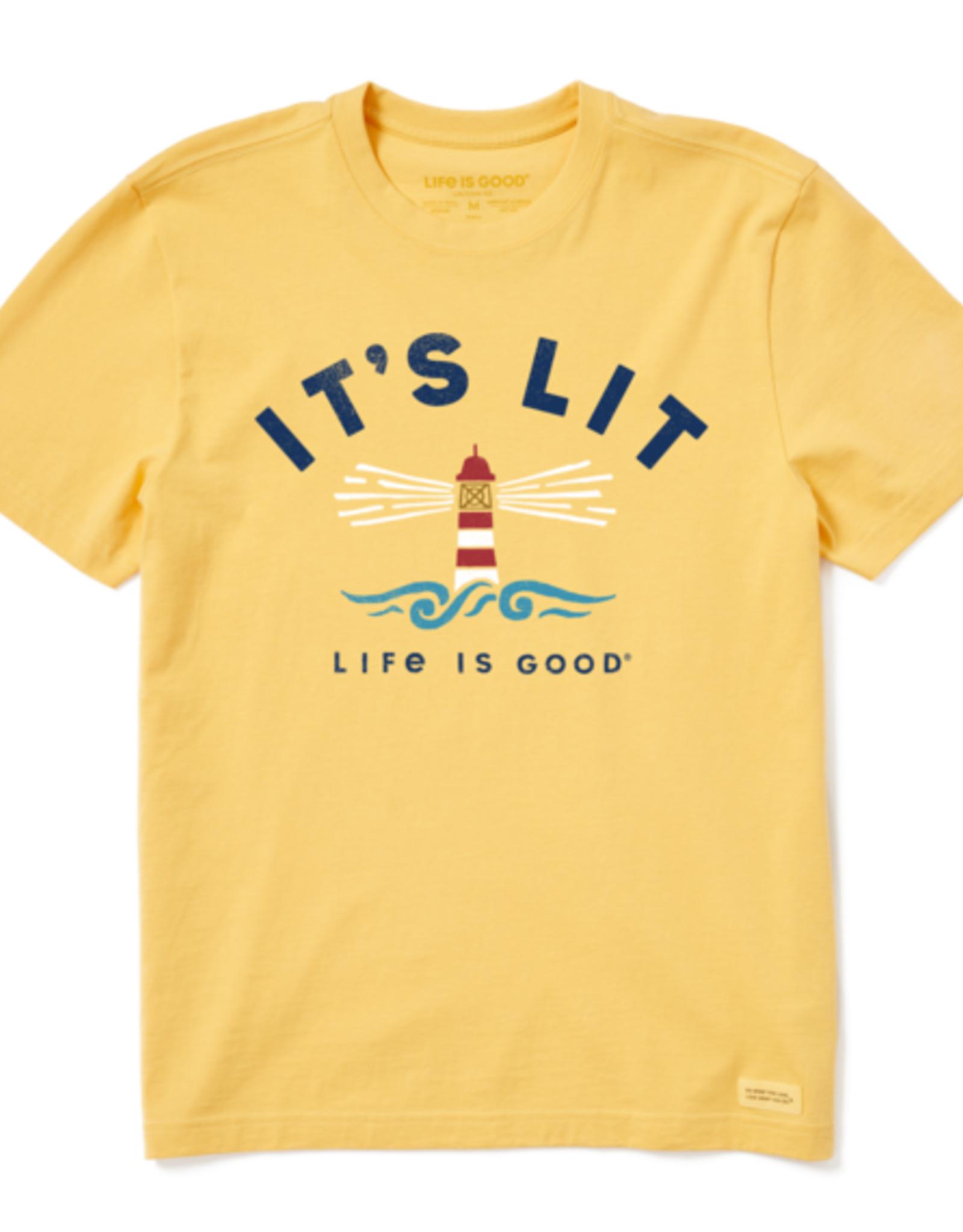 Life Is Good M It's Lit Lighthouse Tee