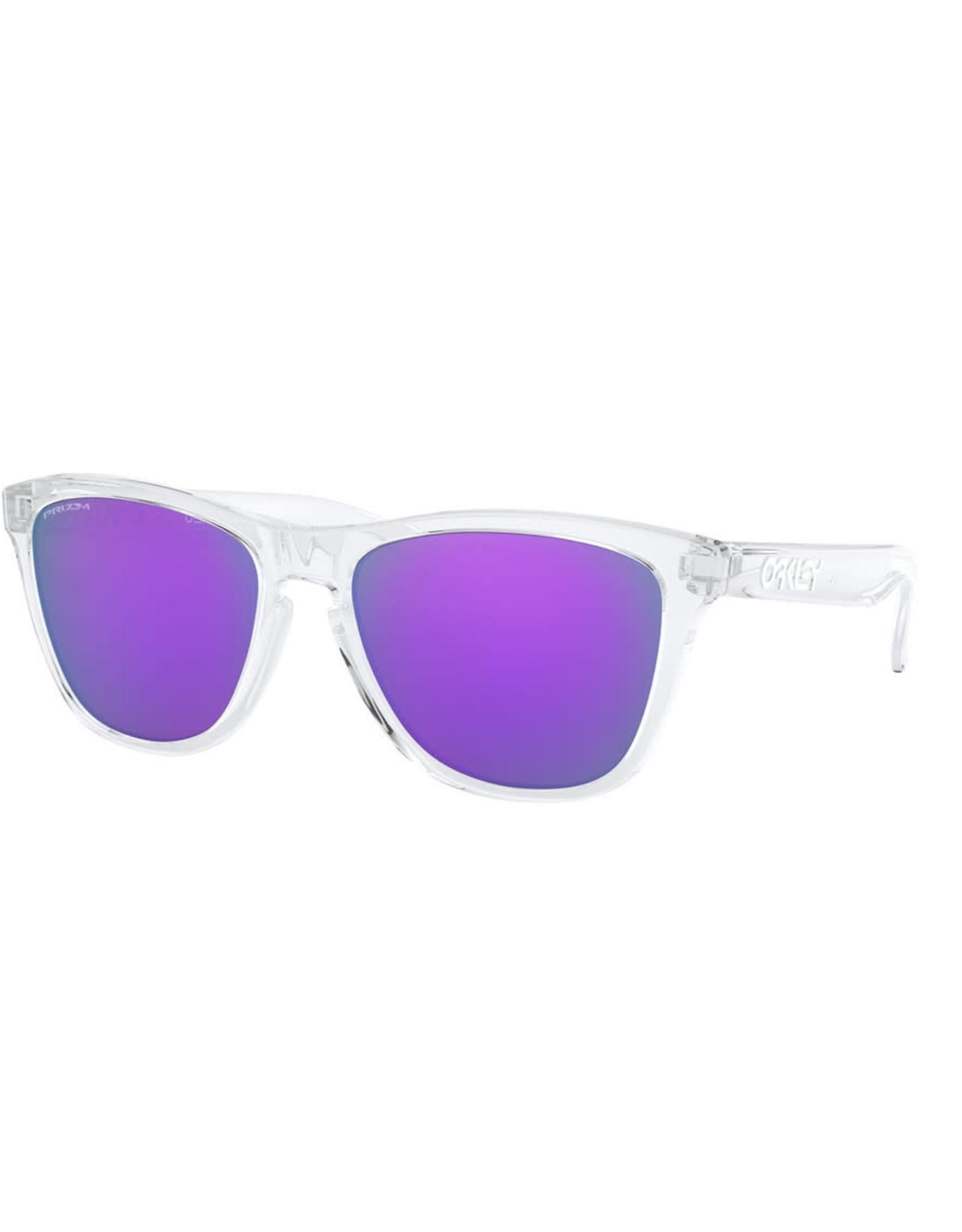 Oakley FROGSKINS Polished Clear, Prizm Violet Iridium