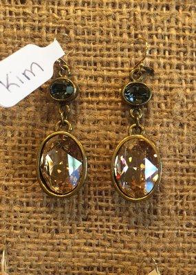 Diana Warner-Kim Earring-small oval & large oval dangle