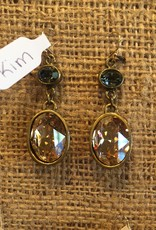 Diana Warner-Kim Earring-small oval & large oval dangle