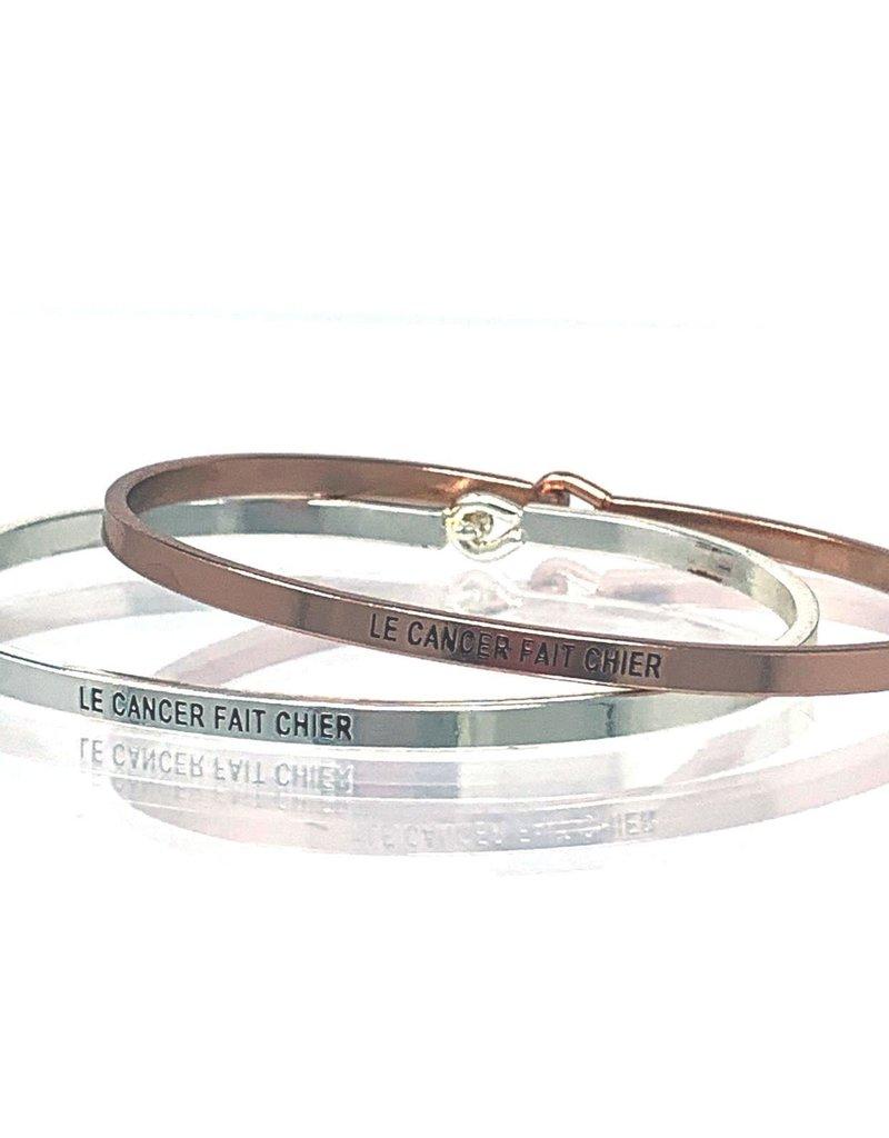 Le Cancer - Fait Chier Bangle Bracelet