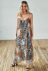SOFIA LONG TIGER PRINT DRESS