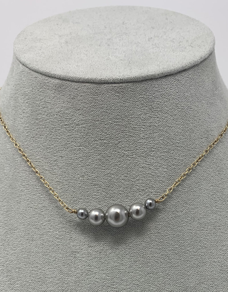 Diana Warner-Anna Grace 5 Pearl necklace