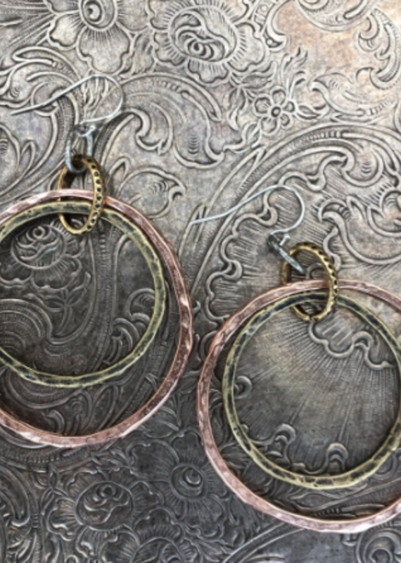 diana warner Paige Double Hoop Earring