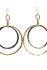 diana warner Diana Warner - Paige Double Hoop Earring