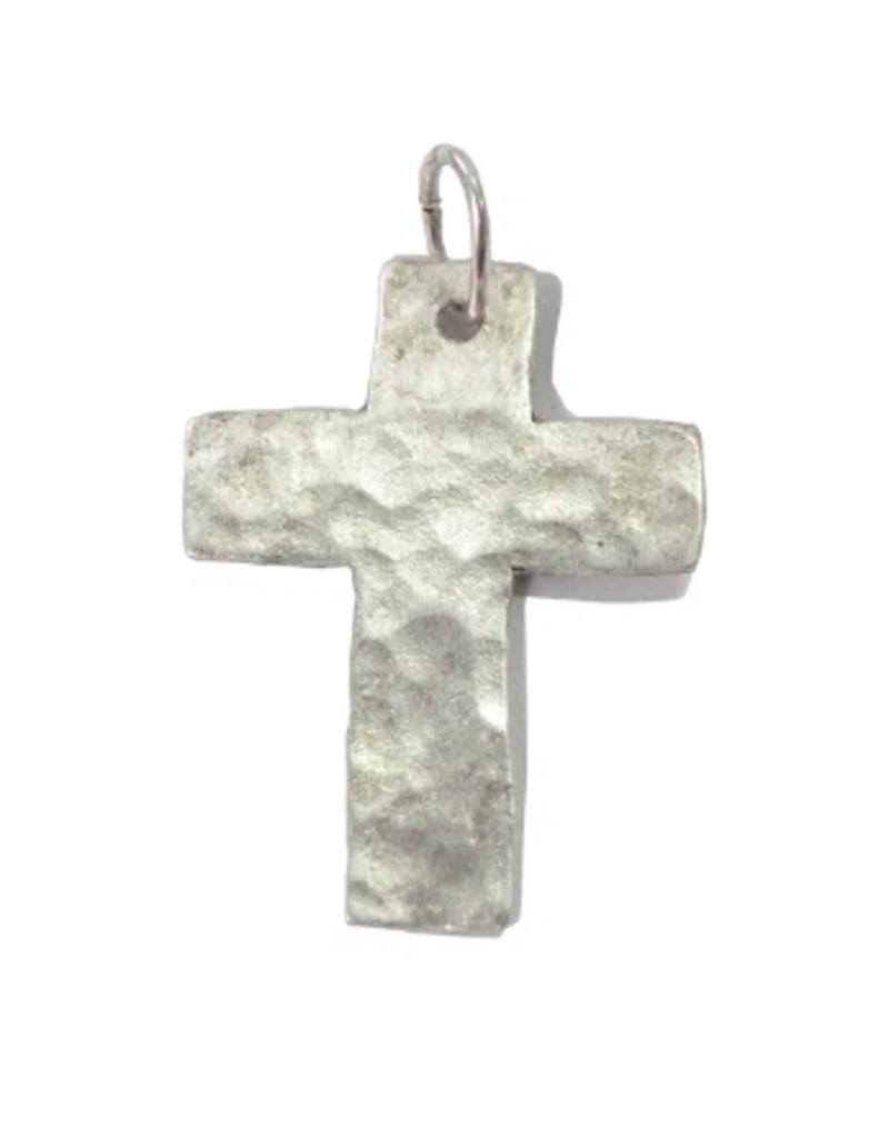 Diana Warner-Hammered Cross Charm