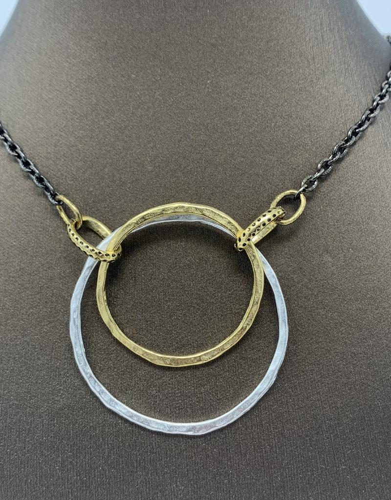 Diana Warner-Paige Double Hoop Necklace
