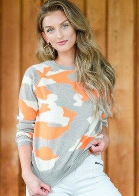 Camo Sweater -Orange