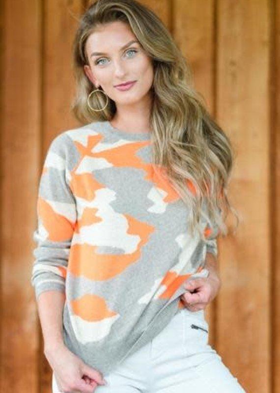 Brodie Camo Sweater -Orange