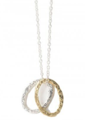 Obligato Necklace-Double Oval Rings on Chain