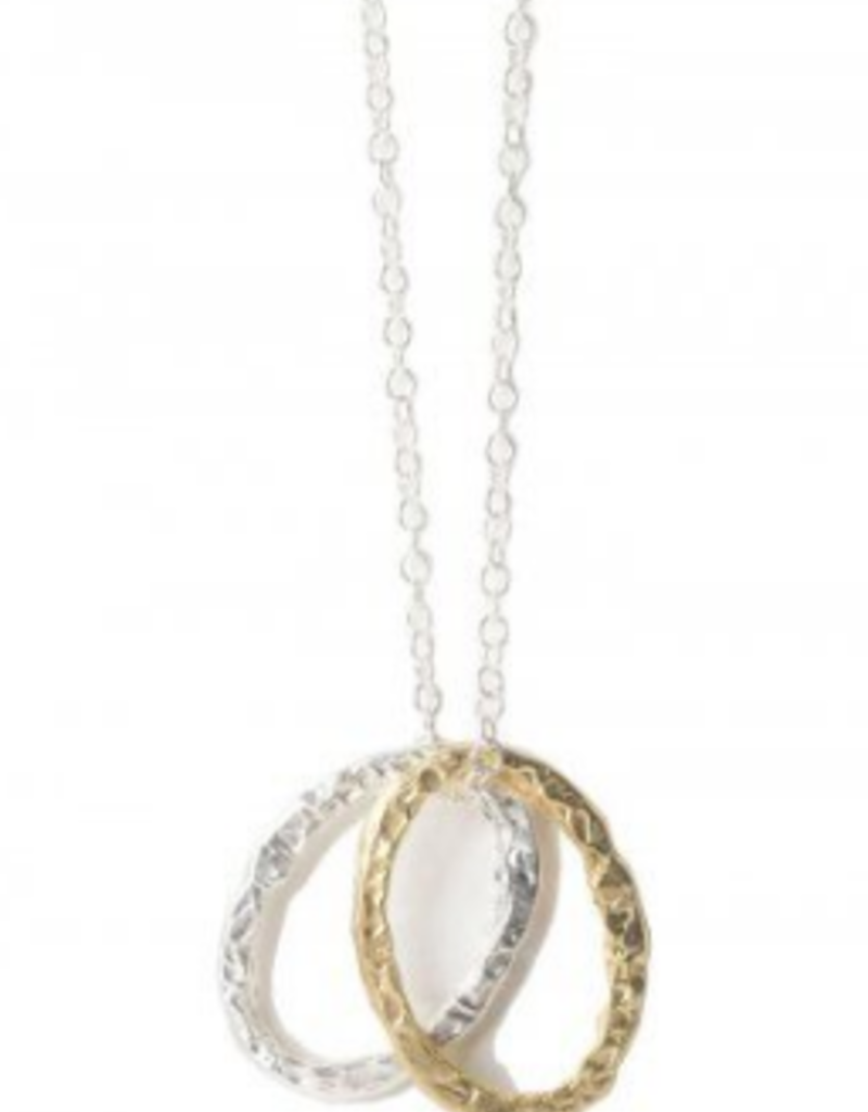 Diana Warner-Obligato Necklace-Double Oval Rings on Chain