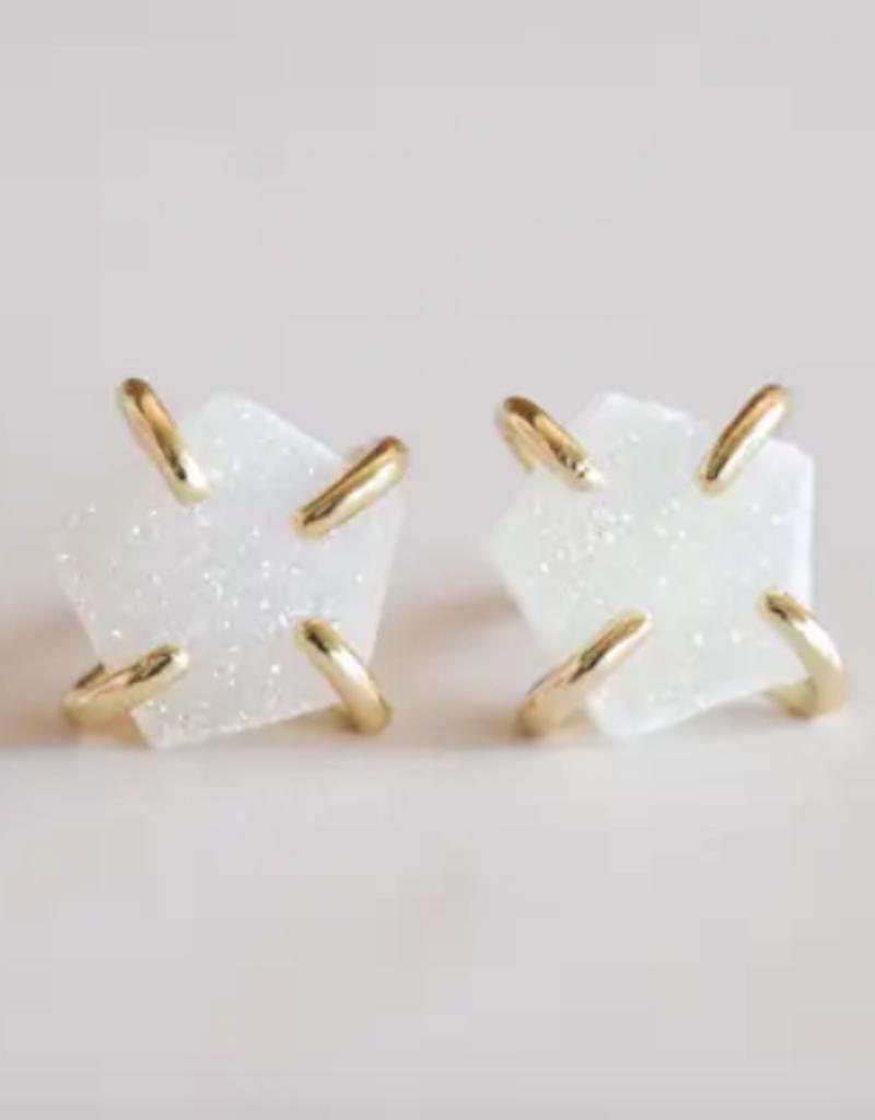 Indigo Faire Jax Kelly - Druzy Prong Earring