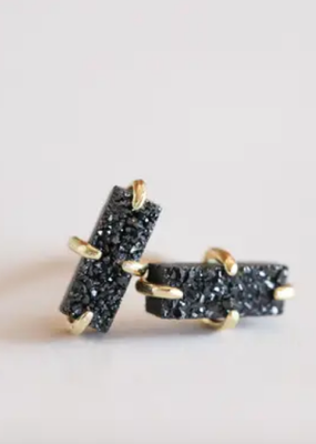 Indigo Faire Druzy Bar Stud Earring