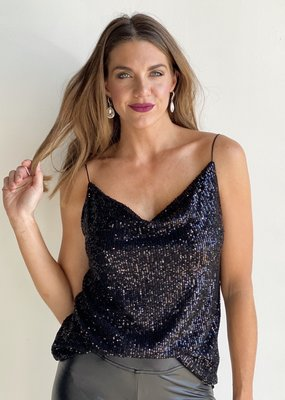 Sequin Cami Black