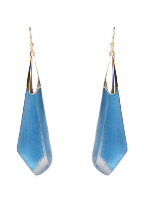 ALEXIS BITTAR ALEXIS BITTAR FACETED WIRE EARRINGS  PACIFIC BLUE