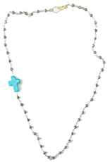 Floating Julie Cross Necklace - Short