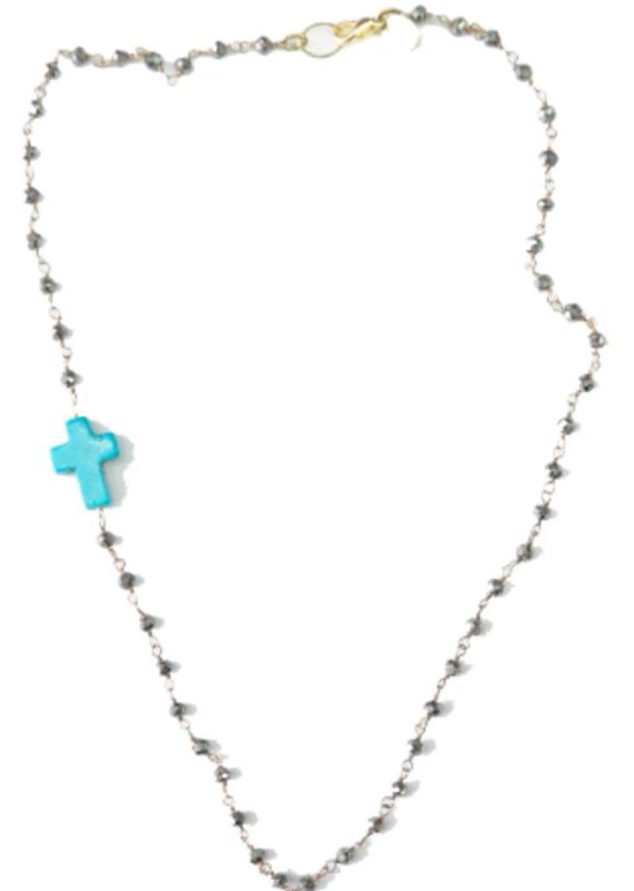 Floating Julie Cross Necklace - Short