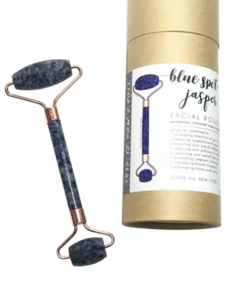 Indigo Faire Blue Spot Jasper Facial Roller