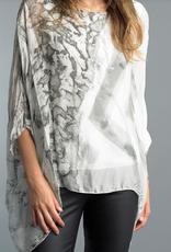 Tempo Paris Silky Tie Dye Top -Two Layers