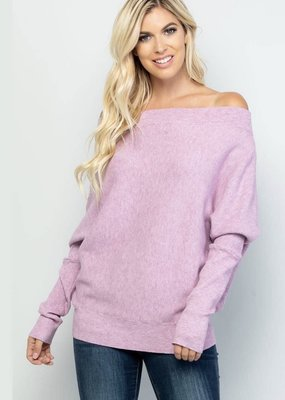Batwing Pullover, Lavender