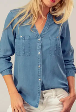 Urban Daizy Tencel Button Down