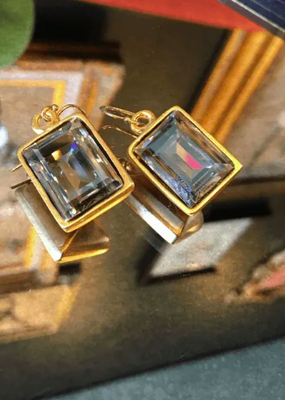 Diana Warner-Emerald Cut Earring on short hook