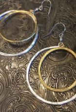 Diana Warner-TERE Double hoop earrings