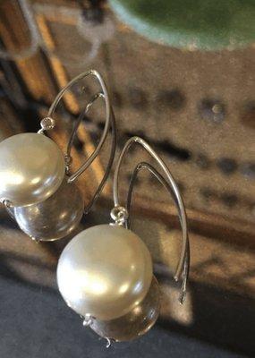 Diana Warner-Sarah 14mm Pearl Earrings on Medium French Hook