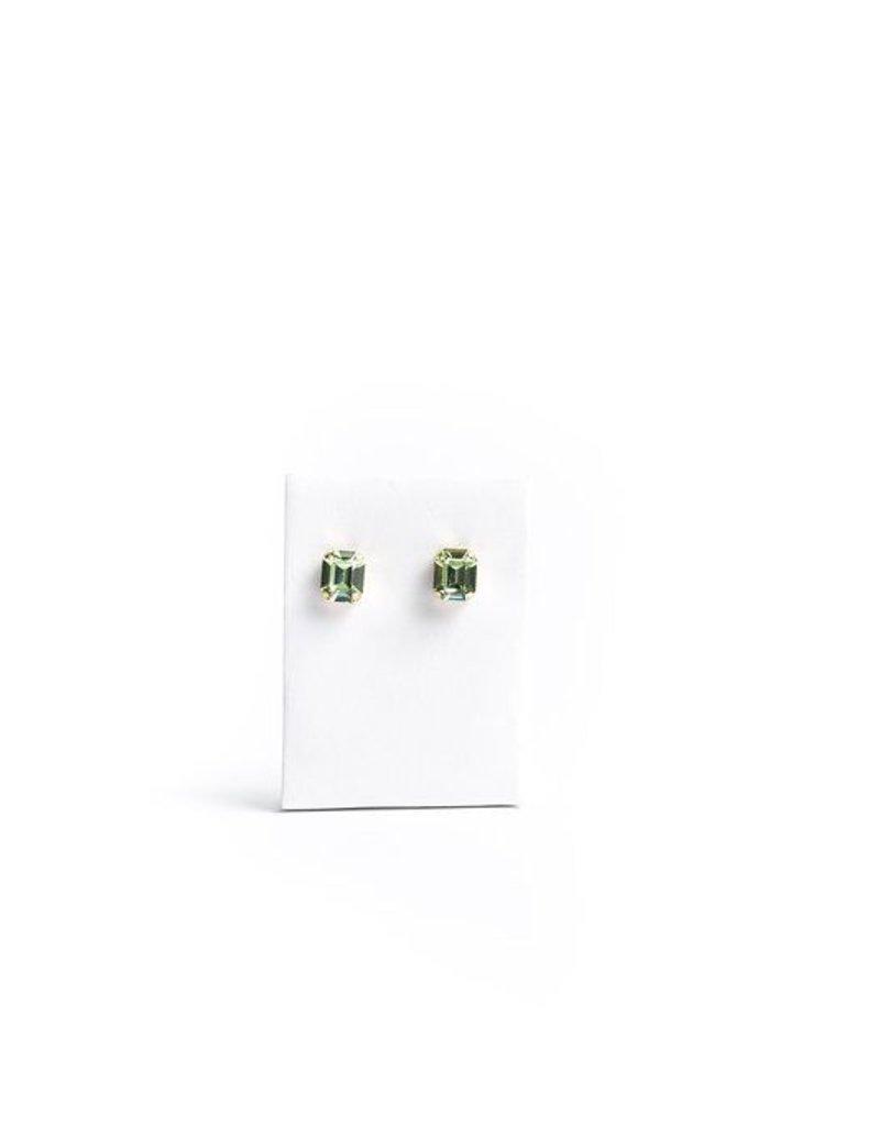 Diana Warner- Pronged Large Emerald Stud