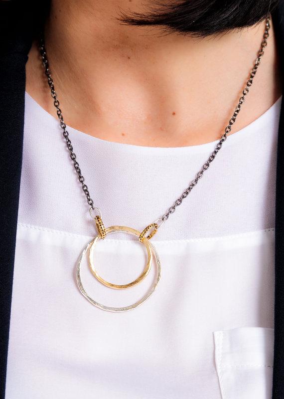Paige Double Hoop Necklace