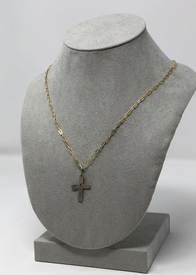 Holly Mills Hammered  Silver Cross Necklace - Holly Mills N13