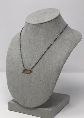 Hammered TN Gold Necklace - Holly Mills N22