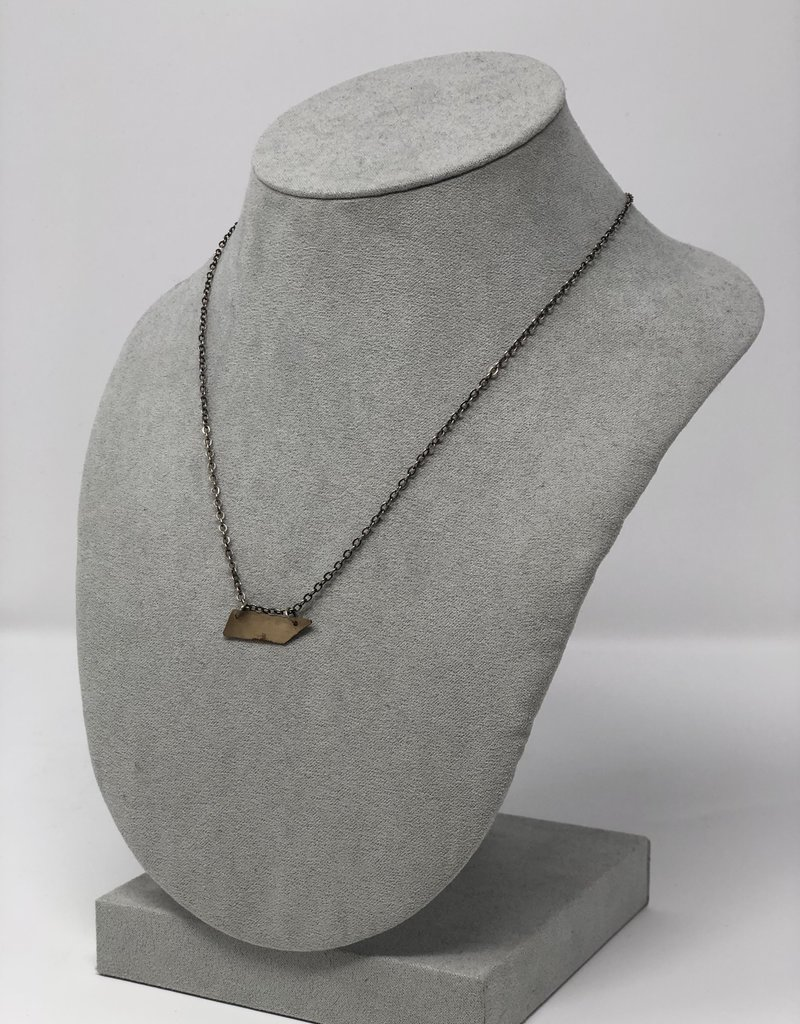 Hammered Gold Necklace - Holly Mills N22