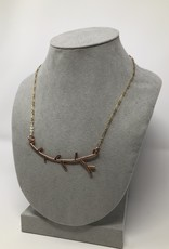 Rose Goal Tree Branch Necklace - Holly Mills N6
