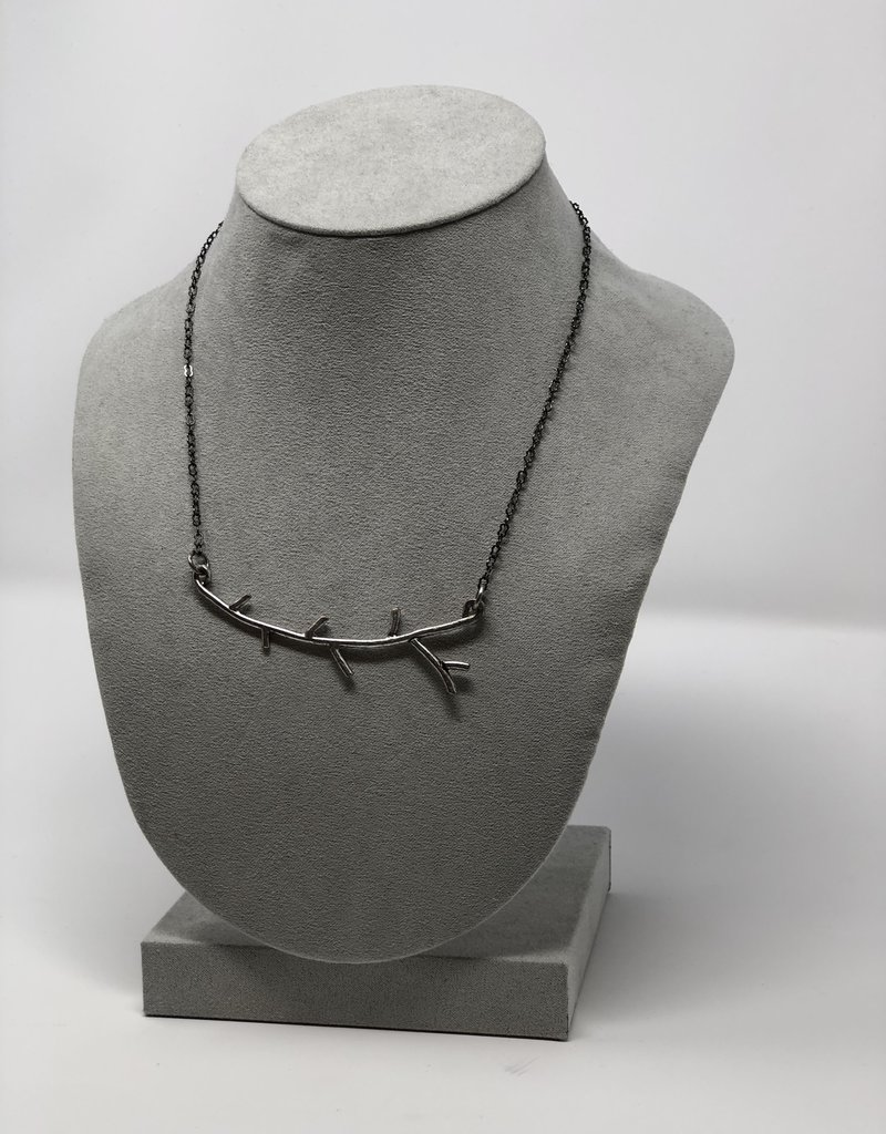 Silver Tree Branch Necklace - Holly Mills N6