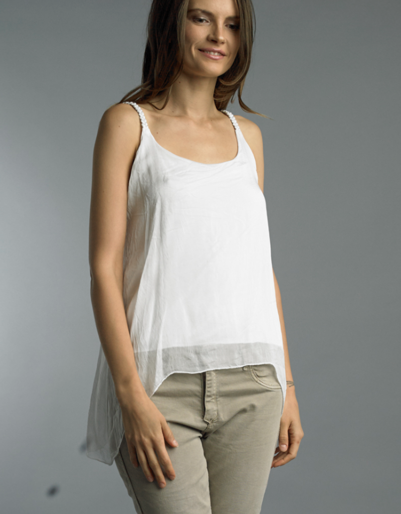 Tempo Paris Tempo Paris White Strap Top